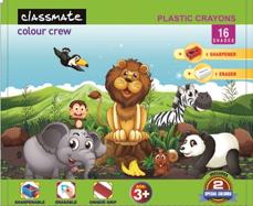 Plastic Crayons 16 shades (110 mm)