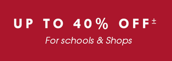 Up to 40% discount for Schools