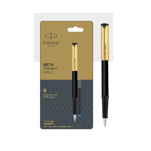 Parker Beta Premium Gold Refillable Fountain Pen Authorized Distributor Wholesaler Retailer Bulk Order Buy Shop Online Supplier Dealers In Kerala South India