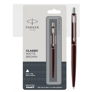 Parker Classic Matte Brown Ball Pen With Chrome Trim Authorized Distributor Wholesaler Retailer Bulk Order Buy Shop Online Supplier Dealers In Kerala South India