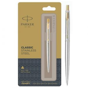 Parker Classic Stainless Steel Refillable Ball Pen With Chrome Trim Authorized Distributor Wholesaler Retailer Bulk Order Buy Shop Online Supplier Dealers In Kerala South India