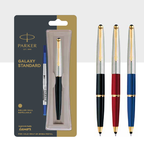 Parker Galaxy Standard Roller Ball Pen With Gold Trim Authorized Distributor Wholesaler Retailer Bulk Order Buy Shop Online Supplier Dealers In Kerala South India