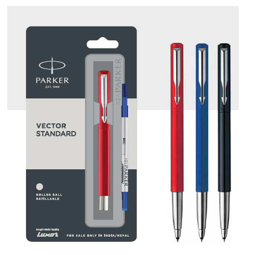 Parker Vector Standard Fountain Pen With Stainless Steel Trim Authorized Distributor Wholesaler Retailer Bulk Order Buy Shop Online Supplier Dealers In Kerala South India