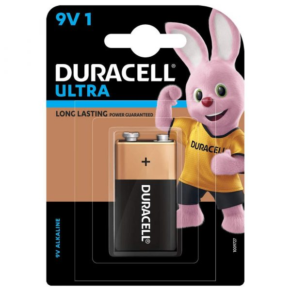 Duracell Ultra 9V Alkaline Battery with Duralock Technology Pack of 1 9V 1BL SKU: 5005409 Authorized Distributors Wholesaler Renaissance Shop Buy Online Supplier Best Lowest Price Dealers In Kerala South India