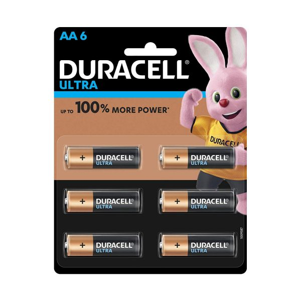 Duracell Ultra Alkaline AA Batteries Battery with Duralock Technology Pack of 6 Pieces Authorized Distributors Wholesaler Renaissance Shop Buy Online Supplier Best Lowest Price Dealers In Kerala South India