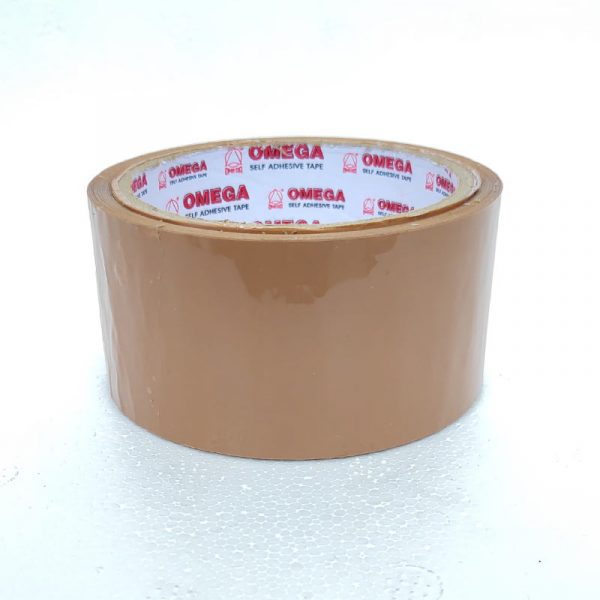 omega 72 mm 40 micron 60 m self-adhesive brown tape omega stationery authorized distributors wholesaler bulk order shop buy online supplier best lowest price dealers in kerala south india